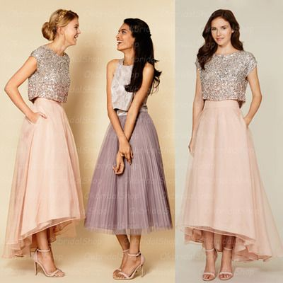2 piece bridesmaid dresses, sequin bridesmaid dresses, organza bridesmaid…
