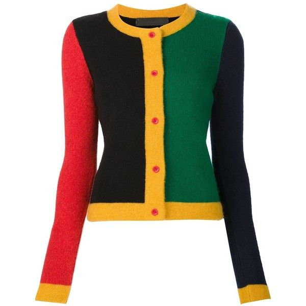 The Elder Statesman colour block cardigan ($810) ❤ liked on Polyvore featuring tops, cardigans, multicolour, cashmere cardigans, color block cardigan, multi color cardigan, multi colored cardigan and colorful cardigans