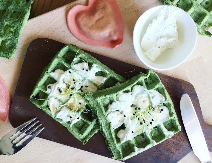 #waffles #gaufres #valentinesday #spichach #saltywaffles #healthy #foodblog #dietitian #dieteticienne