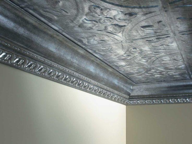 Tin Ceiling + Metallic Edging