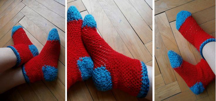 Winniearthe: Crochet: Colorful socks