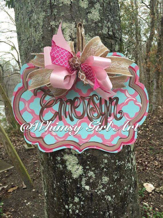 Birth Door Hanger by WhimsyGirlArt on Etsy