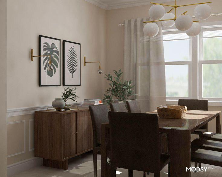 Rustic Modern Dining Room Design Ideas