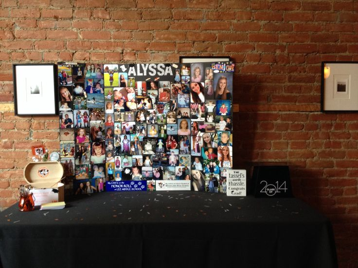 Graduation Photo Display Ideas - 12 Graduation Photo Display Ideas for Find this Pin and more on Graduation by Personalized HERSHEY'S® Chocolate Bars & Wrappers by WH Candy. Great way to display loose photos at your rustic themed graduation party! Photos on the line, window frame collage .