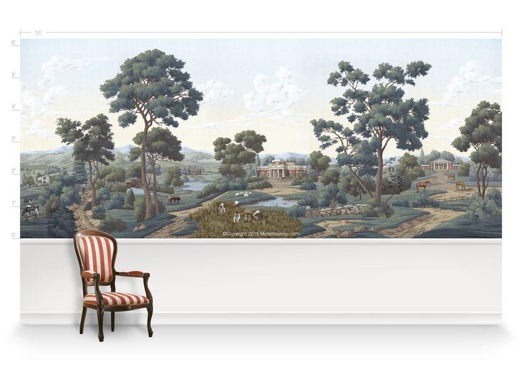 Virginia Mural · House DoctorFabric WallpaperWall ...
