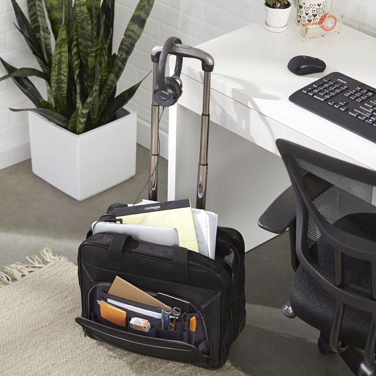 Business Rolling Laptop Case Women Travel Bag Wheeled Tote Luggage Work Laptop #BusinessRollingLaptop