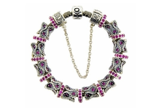 Moress Stackable Pink Stone Charm Bracelet