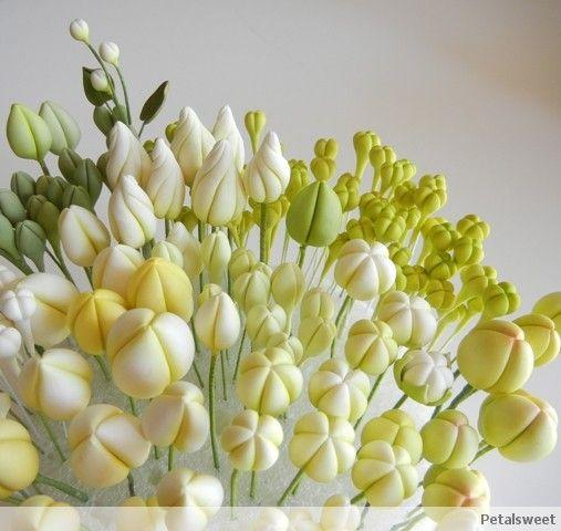 Sugar flower bud tutorials - Petalsweet