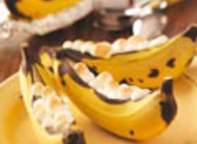 64 camping recipes.Desserts, Chocolates Chips, Bananas Boats, Campfires, Girls Scouts, Camps Recipe, Grilled, Camps Food, Camping Recipes