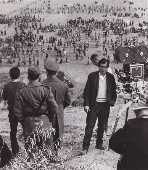 Stanley Kubrick on the set of 'Spartacus' (1960)