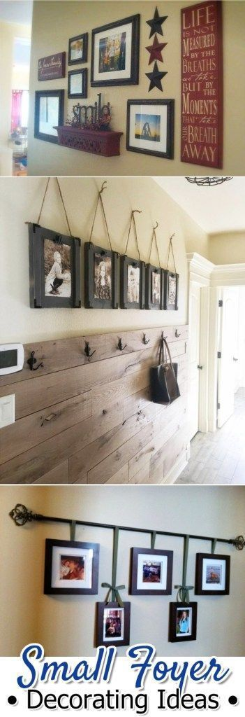 Small Foyer Decorating Ideas - DIY ideas for small foyers #Foyers