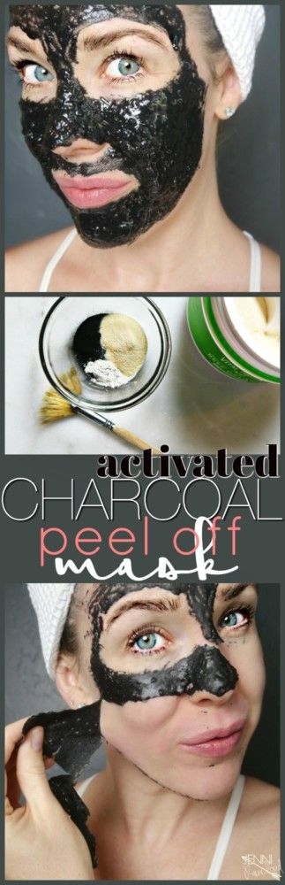 Activated Charcoal Peel Off Mask DIY Activated charcoal, bentonite clay, gelatin and water