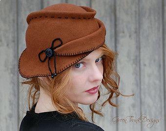 Rustic Tilt Hat / 1940s Style Hat