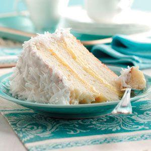 Lemon-Filled Coconut Cake Recipe