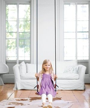 who doesn't need a swing in their living room!: Living Rooms, Kids Room, Decorating Ideas, Indoor Swings, Playroom, Playful Decorating, Fun, Homes