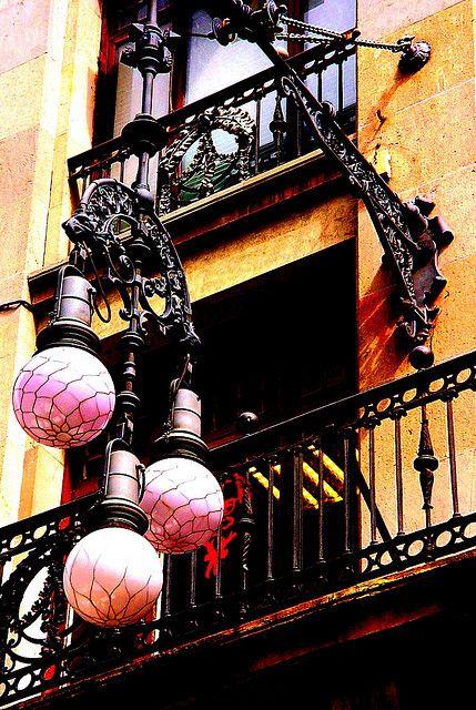 Street lamps, Carrer Ferran Barcelona,  Catalonia