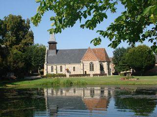 An old Normandy church near the village green