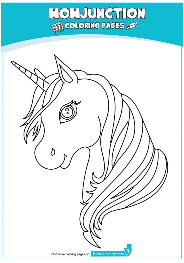 print coloring image MomJunction Unicorn coloring