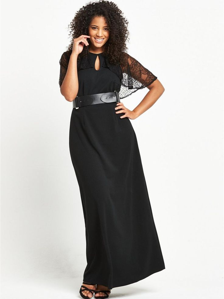 LOST INK CURVE MAXI DRESS WITH CAPE BACK, http://www.very.co.uk/lost-ink-curve-lost-ink-curve-maxi-dress-with-cape-back/1600132511.prd