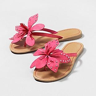 35 best flip flops yea images on pinterest flip flops beach pink flip flops with large pink flower trim mightylinksfo Gallery