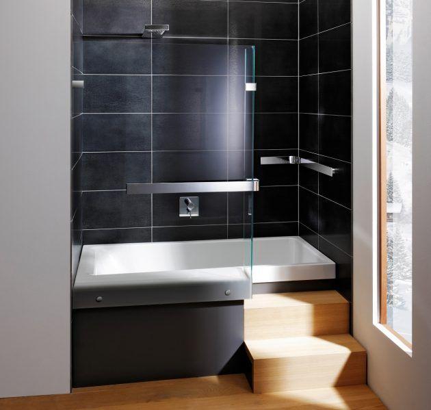 176 best Badezimmer images on Pinterest Bathroom, Bathroom ideas - schwarz wei fliesen bad