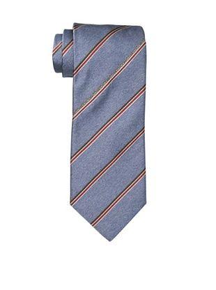 Moschino Men's Logo Striped Tie, Light Blue
