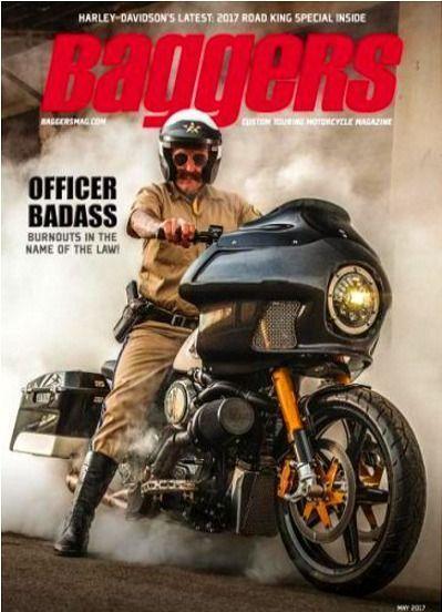 Baggers Magazine May 2017 ROAD KING POLICE SPECIAL, Harley-Davidson, Saddlebags #harleydavidsonroadkingspecial #harleydavidsonpolice #harleydavidsonbaggerroadking