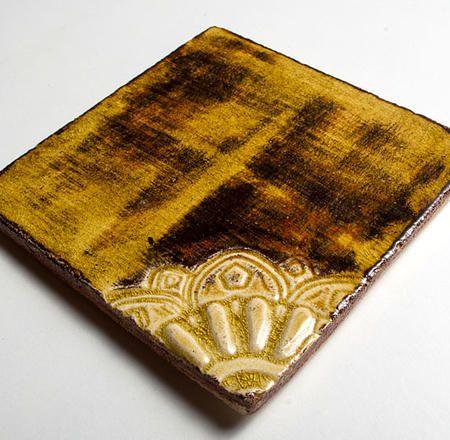 Kafle ceramiczne ręcznie robione - Arabeska Narożna