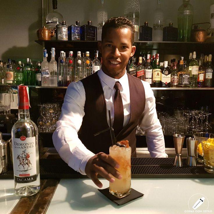 """El genial bartender Luis Armando Mesa nos presenta el fantástico cóctel """"Arañon"""".    #CopasConEstilo #Bartender #Cocktail #Coctelería #Cóctel #Cócteles #Madrid"""