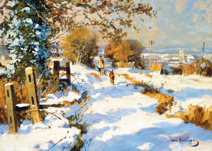 A Winter Walk by John Haskins Courtesy of DDFA. Please visit the website to see more charity cards and gifts http://www.shipwreckedmariners.org.uk/Home/SupportUs/CharityCardsAndGifts.aspx