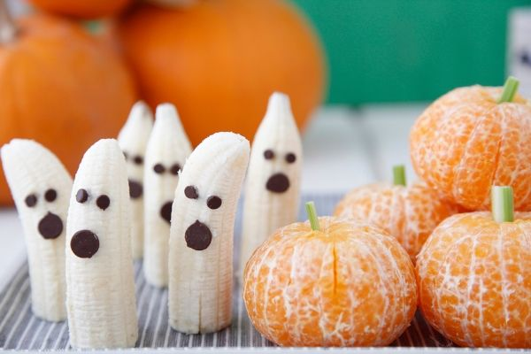 Banana Ghosts Tangerine Pumpkins