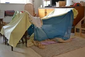 Homemade dens --- these were great and didn't cost a penny.