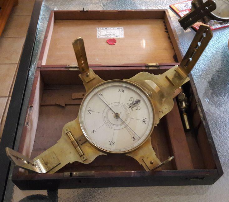 thomas whitney philadelphia four vane vernier compass pre 1816 surveying instrument. Black Bedroom Furniture Sets. Home Design Ideas