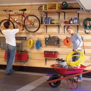 DIY Garage Storage Systems with instructions: Wall Hanging, Garagestorage, Storage System, Garage Organizations, Garage Wall, Organizations Garage, Garage Storage, Garage Ideas, Families Handyman