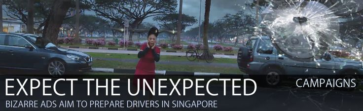 "Read more: https://www.luerzersarchive.com/en/features/campaigns/expect-the-unexpected-with-dbs-bank-267.html EXPECT THE UNEXPECTED WITH DBS BANK Bizarre installations aim to prepare drivers for the unexpected in Singaporean campaign from DDB Tribal.     DBS Bank Ltd in Singapore recently ran ""Expect The Unexpected"", an integrated advertising campaign promoting their Driveshield motor insurance and the offer of a free in-car camera.   The campaign features a series of three bizarre car…"