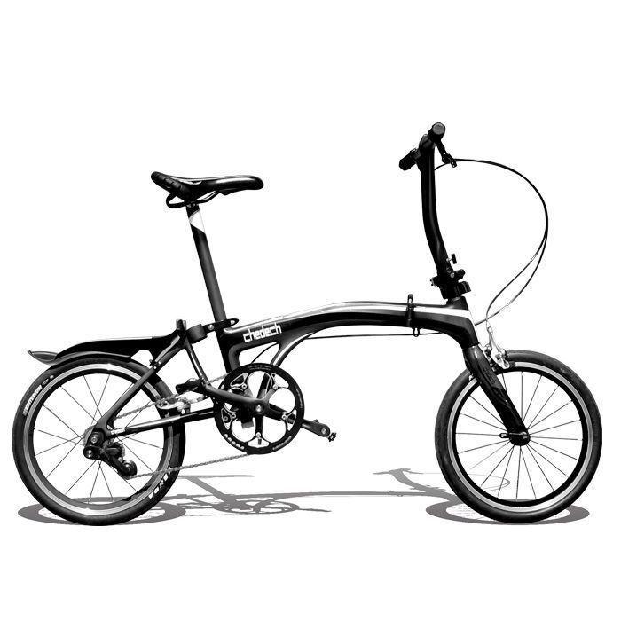 Get2Get Chedech Carbon Folding Bike Black #Get2Get