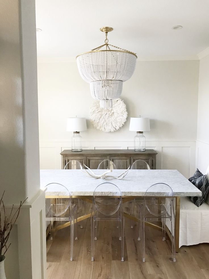 Dining room jacqueline chandelier and restoration hardware