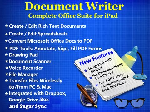 What makes Document Writer a matchless document app?