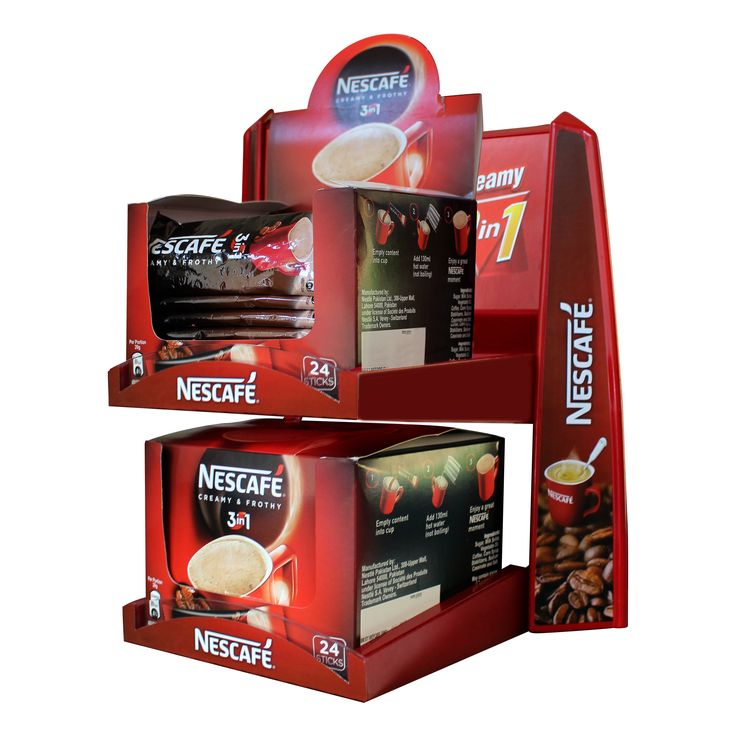 Nestle Nescafe Box Pack Counter Top Dispenser; Designed & Produced By Display Power Global- Pakistan