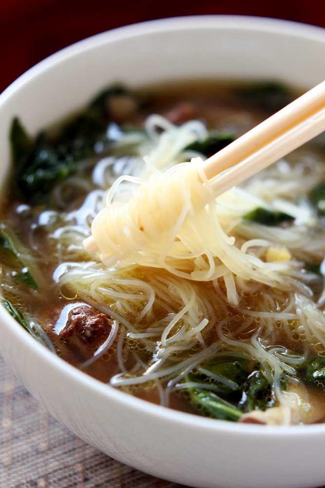 Asian chicken garlic soup-5468