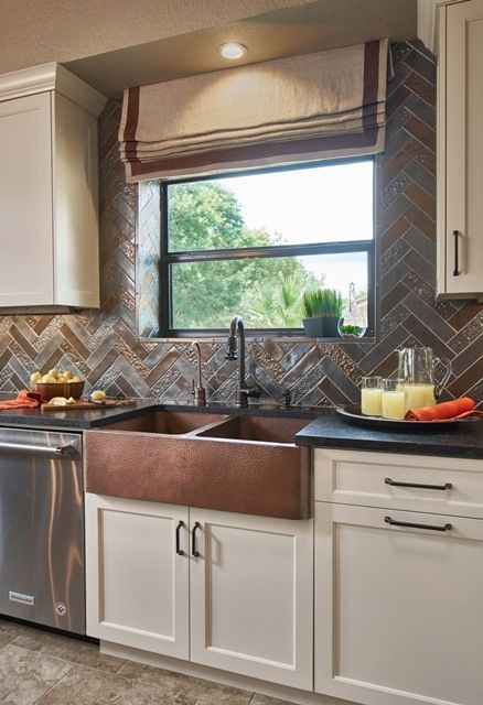 Transitional Rustic But Updated Kitchen With Metallic