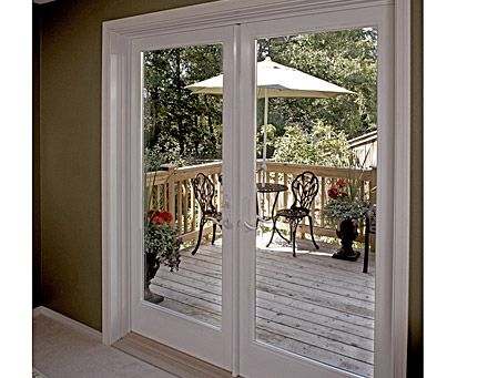 Ultra™ Out-Swing French Door by Milgard Windows and Doors. View the before