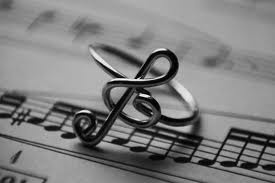 music note ring: Note Rings, Music Lovers, Musicnot, Music Note, Style, Treble Clef, Accessories, Music Rings, Key Rings