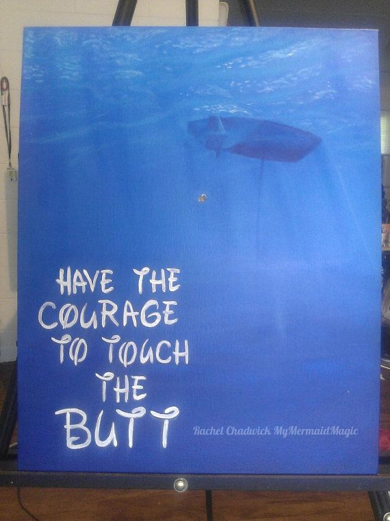 Hand Painted Finding Nemo Have the courage to by MyMermaidMagic