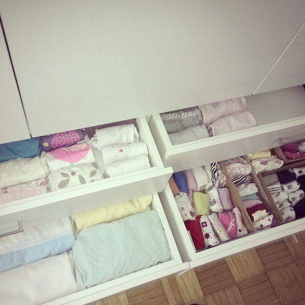 Pin for Later: Why This Controversial Organizing Method Is Exactly What You Need  Vertical stacking in drawers makes organizing a child's clothes simple.
