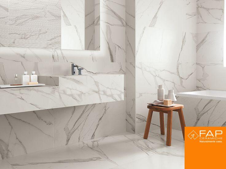 Wall #Roma Statuario Floor #Roma Statuario Lux