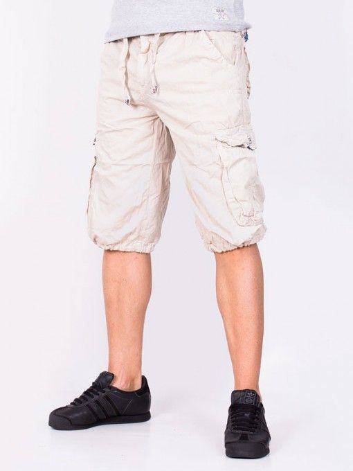 Pantaloni scurti barbati Jeans Coll bej