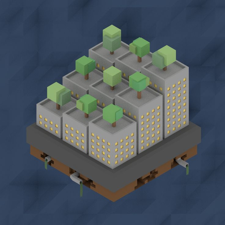 Isometric Skyscrapers by Pezz8855