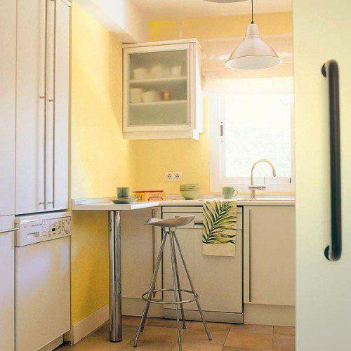 Praktische Esstische Ideen für Ihre Kompakte Küche - dominierendes Rot