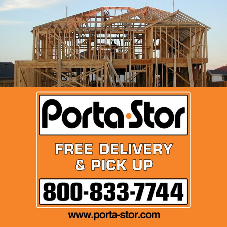 Need some place to store your stuff while building a house? Use Porta-Stor's portable storage containers to get you belongings out of the way!